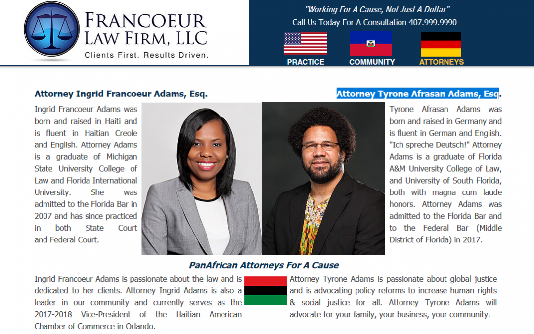 Introducing Attorney Tyrone Afrasan Adams, Esq
